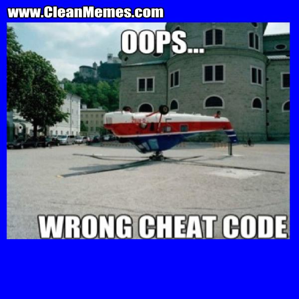 OopsWrongCheatCode