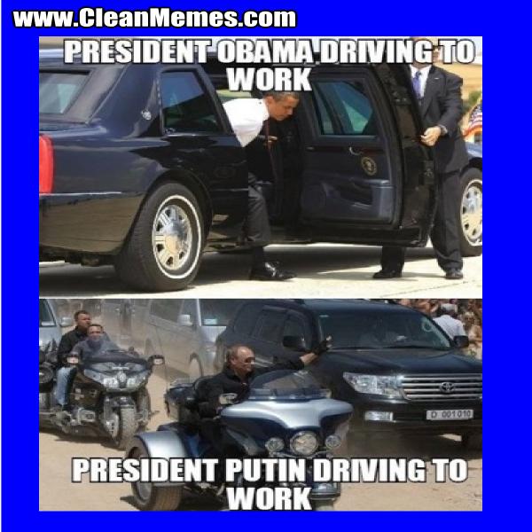 PresidentPutinDrivingToWork