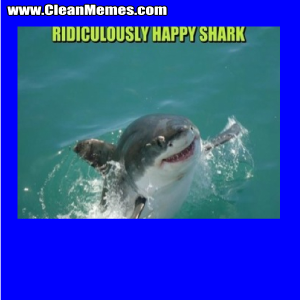 Ridiculously Happy Shark Clean Memes